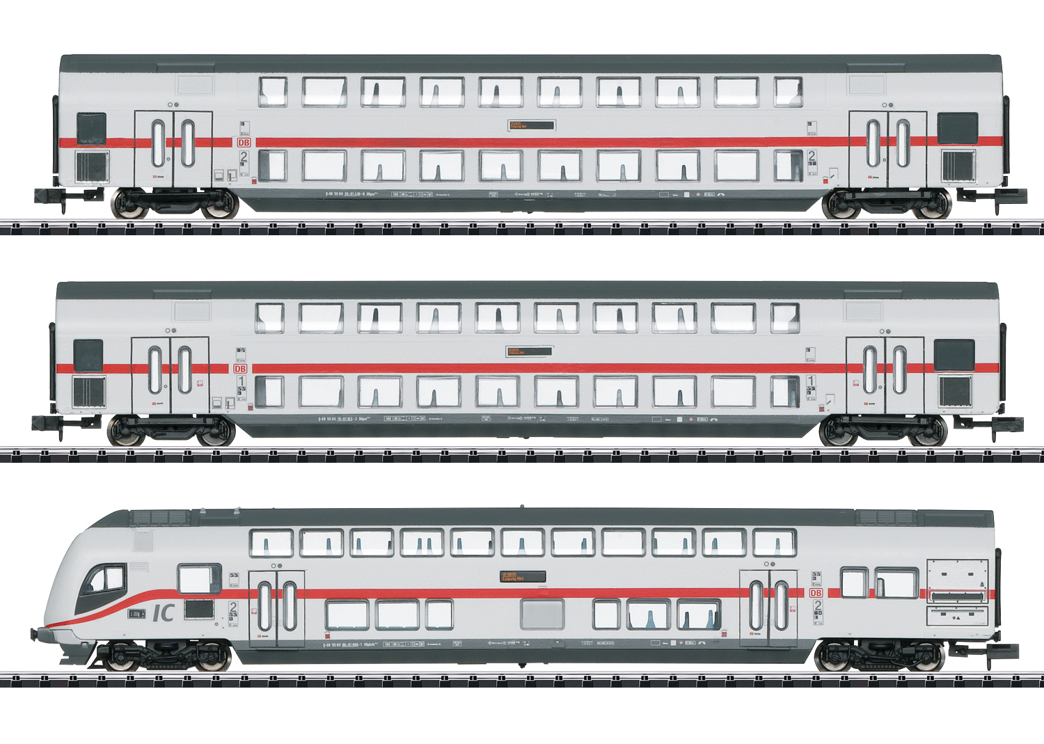 "Minitrix N Doppelstockwagen-Set ""IC 2"" 15385"