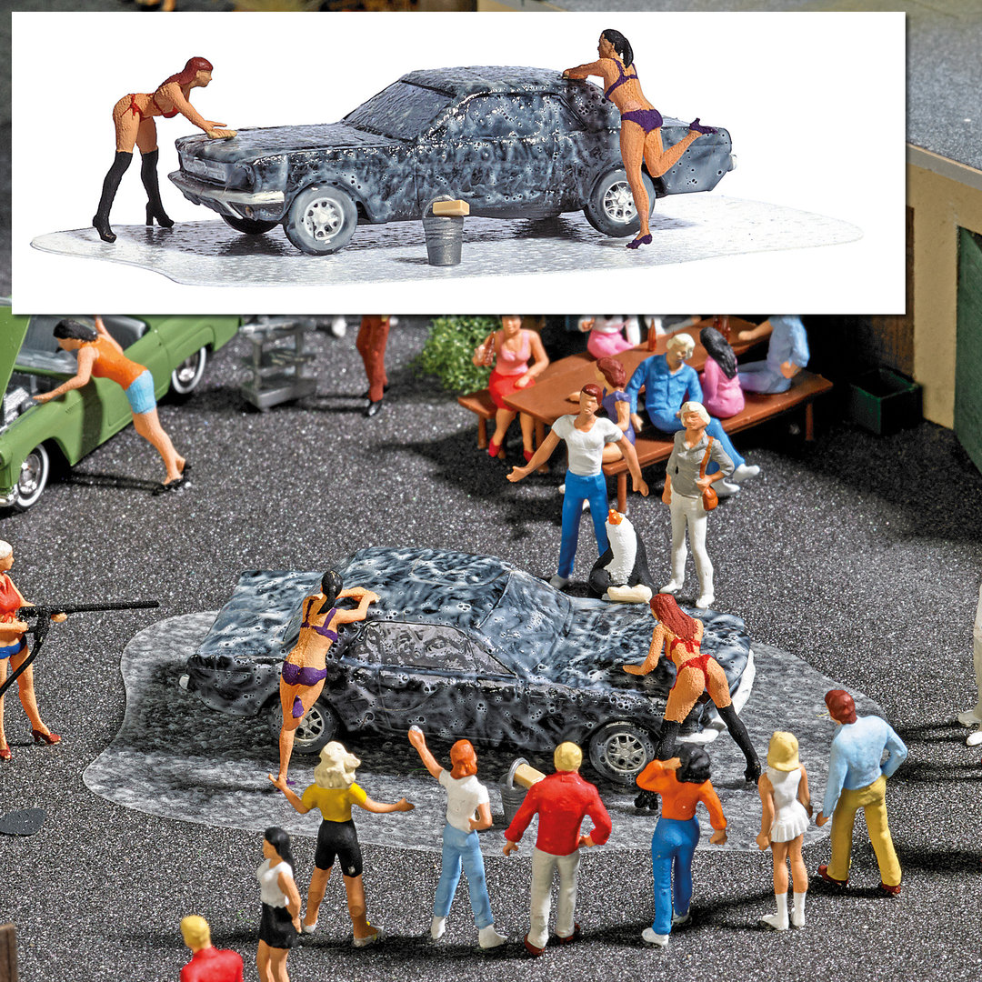"Busch HO Action Set ""Car Wash "" 7824"