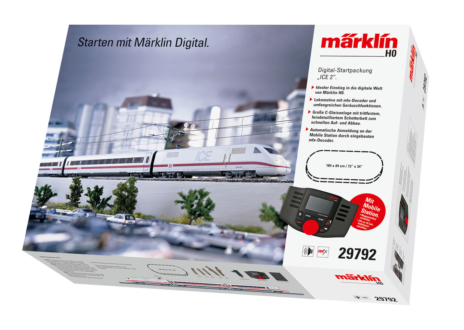 "Märklin HO 29792  Digital-Startpackung ""ICE 2"" 29792"