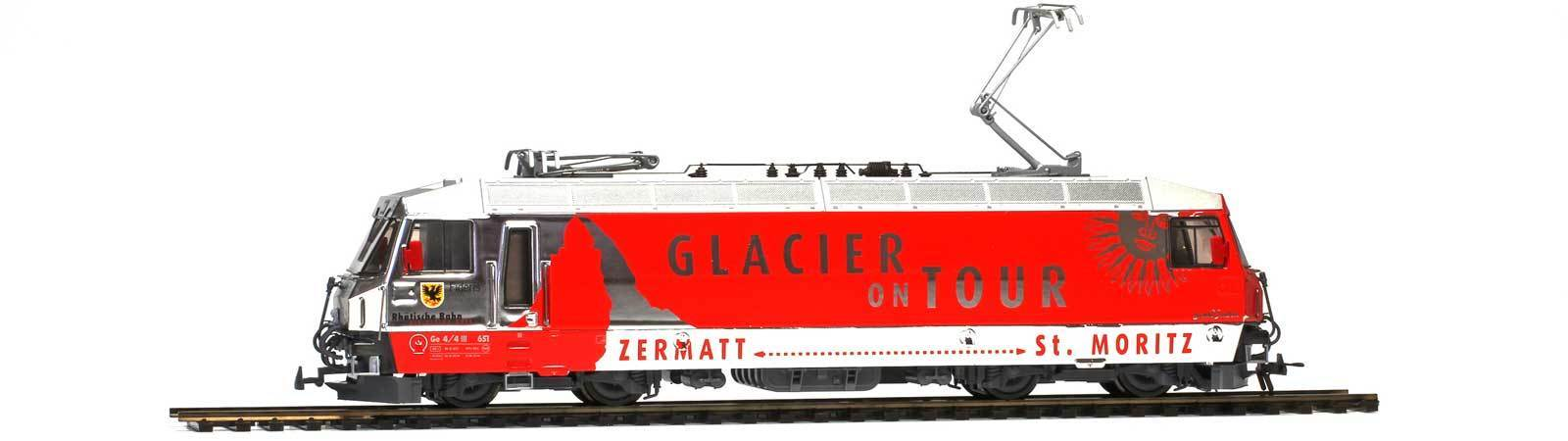 "Bemo HO E-Lok  "" Glacier on Tour ""HO 3L-WS 1459161"